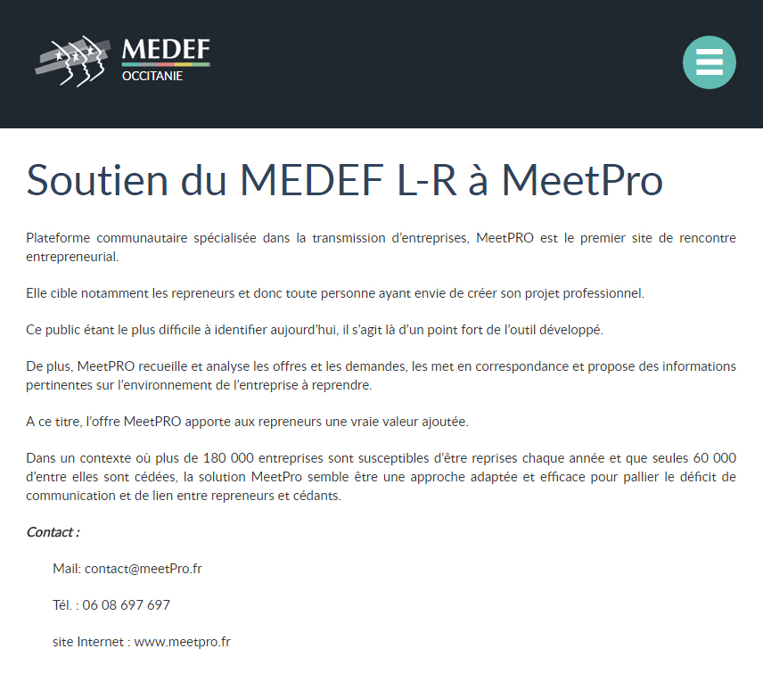 article medef