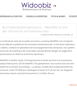 meetpro sur widoobiz